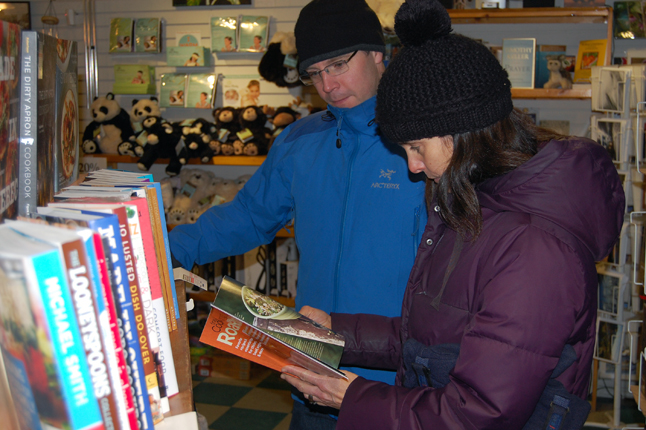 ... or maybe you'd decide, as Jeff and Eleanor Wilson did, that it was time to buy a little nighttime reading material. David F. Rooney photo