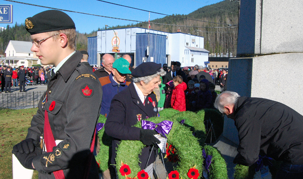 The tribute paid by Revelstoke's citizens was touching. David F. Rooney photo
