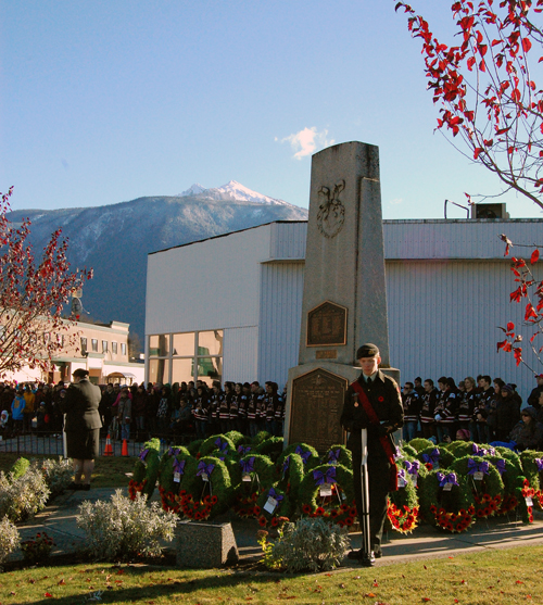 By the end of the ceremony, scores of wreath and crosses had been paid in memory of our war dead. David F. Rooney photo