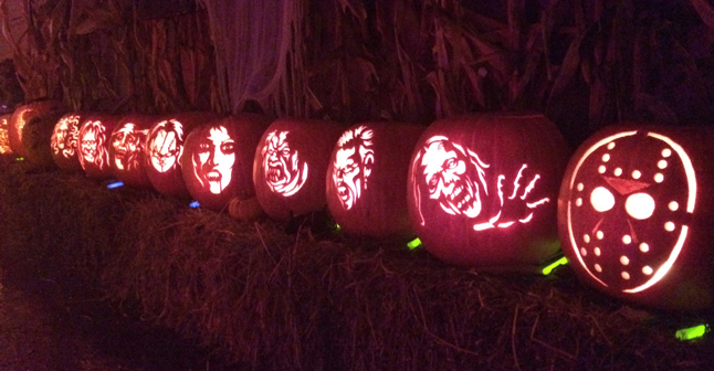 And here's what some of their 25 hand-carved pumpkins looked like. Great job! Shawn Filipchuk photo