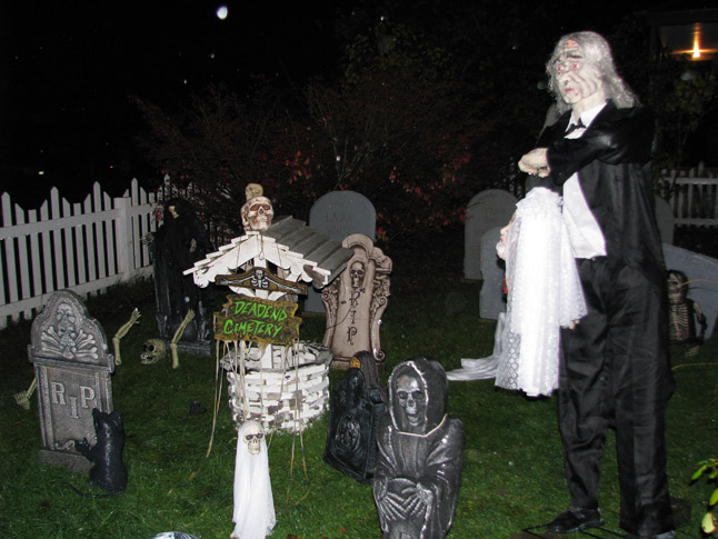 James and Linda Walford's house on Fourth Street is also a traditionally spooky place come Halloween. Here's how it looked on Friday. Linda Walford phoot