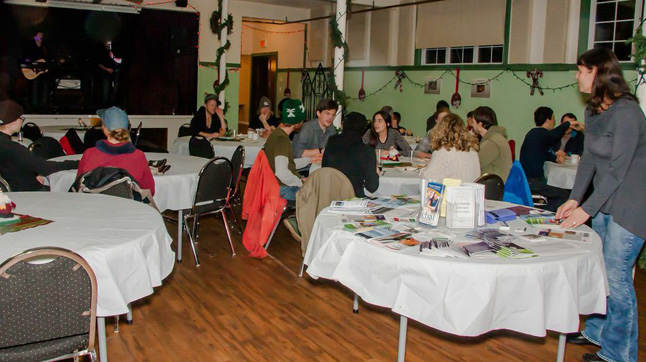 Food and people were in abundance in the festive basement of the United Church.  Jason Portras photo