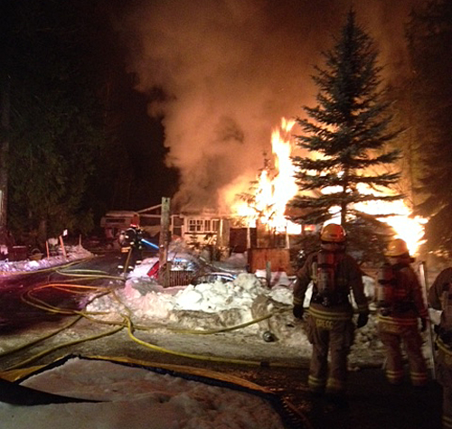 Fortunately no people were injured in the fire. Photo courtesy of Revelstoke Fire Rescue