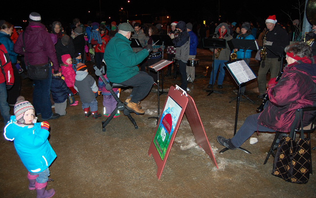 The Community Band certainly got some Holiday Train fans — particularly really small ones — dancing. David F. Rooney photo