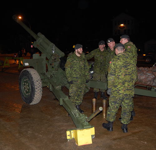 The event even brought down one of the Royal Canadian Horse Artillery's big guns, in this case a 105 mm howitzer, from avalanche duty in Rogers Pass. David F. Rooney photo