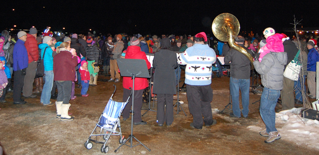 The Community Band performs to keep the crowd entertained. David F. Rooney photo