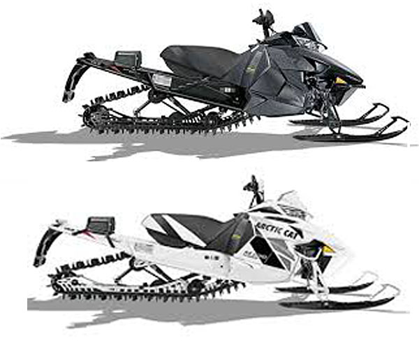"""Lock up your sleds and trailers! Two snowmobiles were stolen at about 2:15 am on Friday, December 19, at an unnamed """"commercial enterprise"""" west of Revelstoke, on the Trans-Canada Highway. Photo courtesy of the Revelstoke RCMP"""