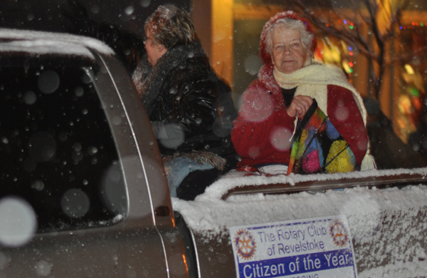 The parade featured ?????? who was selected by the Rotary Club to be the 2015 Citizen of the Year. She rode with Linda Chell (left), who last year's Citizen of the Year. David F. Rooney photo