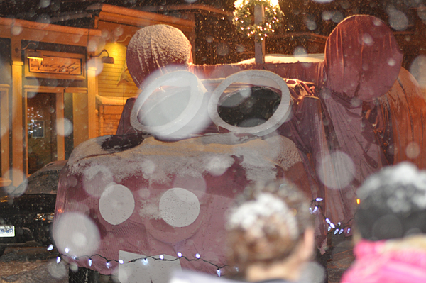 Home Hardware sent a big pink hippo out on the street. David F. Rooney photo