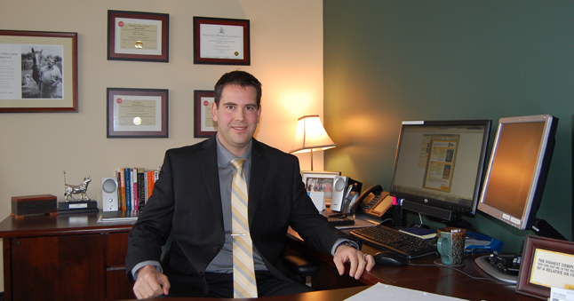 Edward Jones has been making a solid impact on the local financial investment service sector since its inception here five years ago, says its local advisor, Chris Bostock. David F. Rooney photo