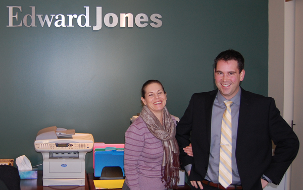 Bostock and Branch Administrator Cathie Thacker are happy to help Edward Jones clients. David F. Rooney phto