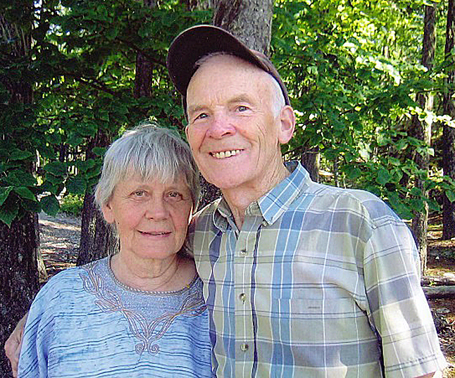 Marg Stovel, shown here with her beloved husband, Bud, has died. Born on October 14, 1928, in Calgary, she passed away at Queen Victoria Hospital on January 16, 2014, with her family at her side. Photo courtesy of the Stovel family