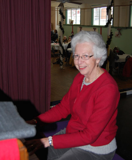 Judy so enjoyed her meal she performed an impromptu piano concert for other people enjoying their soup. That surely put a smile on their faces. I know it put a smile on mine. David F. Rooney photo
