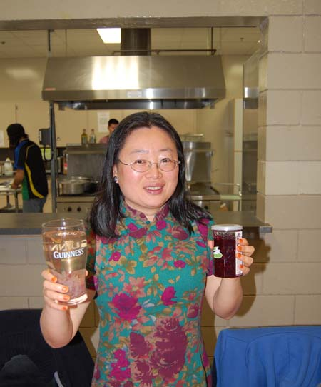 Yan Liu offered up a variety of Chinese teas available at her shop, the Jasmine Garden, located at 205 Connaught Avenue. David F. Rooney photo