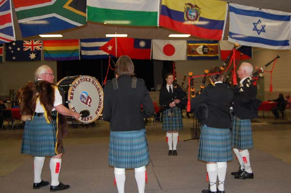 The skirling of the Revelstoke Highlanders' bagpipes kicked off the 2015 Carousel of Nations at the Community Centre on Saturday, January 31. David F. Rooney photo