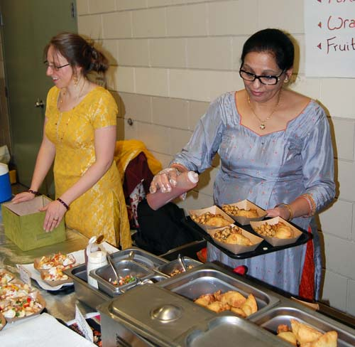 If you were looking for Indian food, Pam Sanghera had just what you wanted. David F. Rooney photo
