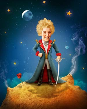 Nancy Kenny starred in Monster Theatre's inventive new adaptation of The Little Prince which was performed at the Revelstoke Performing Arts Centre on Saturday, February 7. Image courtesy of Monster Theatre