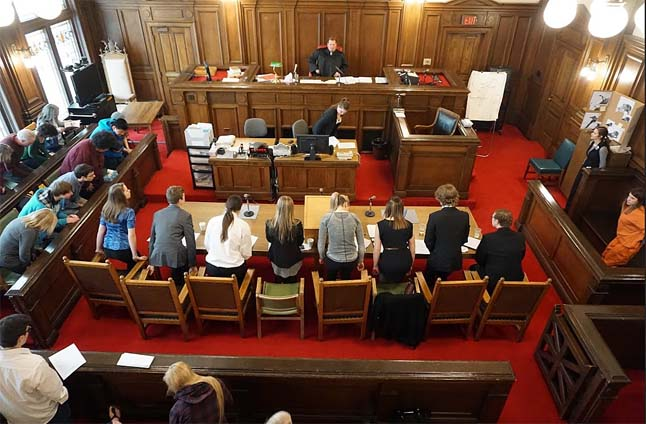 Here's a view of the courtroom from the visitors' gallery. Jeff Colvin photo