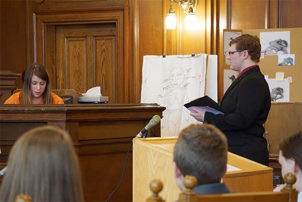 Jesse Reid (right) acted as the Crown counsel. Jeff Colvin photo