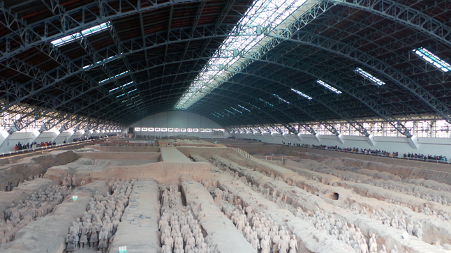 The famed Terracotta Army was one of the major draws for Mark McKee when he booked a family vacation to China many months ago. And it's not hard to see why in this photo of just one of three separate, roofed enclosures protecting a grand total of 8,000 ceramic soldiers who were buried with  Qin Shi Huang, the first Emperor of China, in 209 BCE. Mark McKee photo