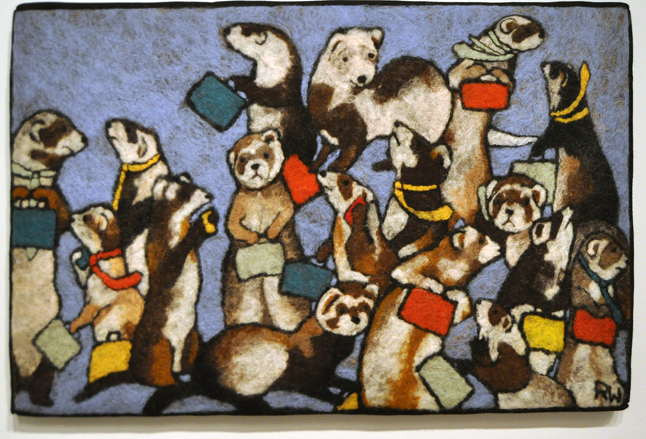 A Business of Ferrets By Robin Wiltse Textile
