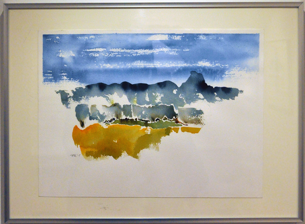 East Face By Richard Reid Watercolour