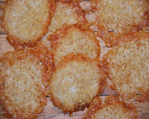 Parmesan crisps--talk about high notes!
