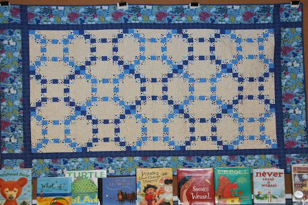 Garden in Blue. By Mt. Revelstoke Quilters' Guild members. Machine quilted by Connie Baker.