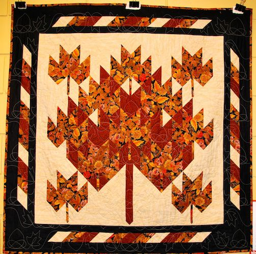 Mystery Maple Leaf Quilt by Jill Leslie.