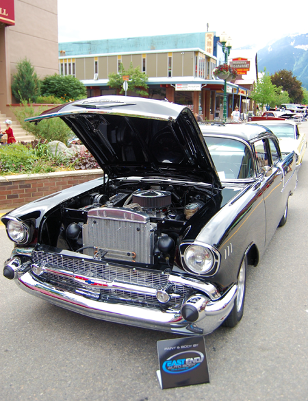 1957 Chevrolet owned by Tammie Kermack of Revelstoke. David F. Rooney photo