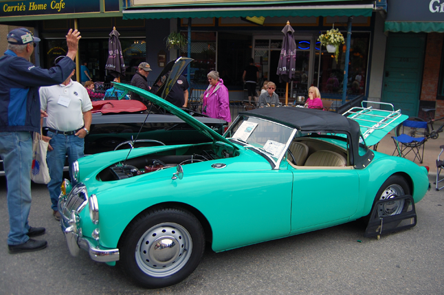 1956 MGA owned by Len Smith of Qualicum Beach. David F. Rooney photo