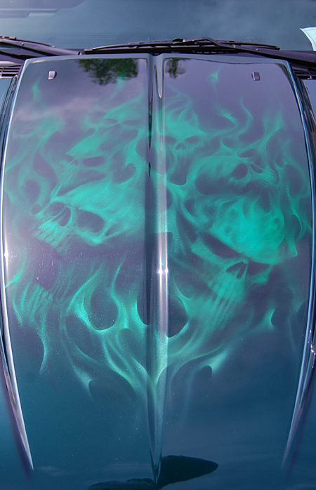 The flame detail on Craig Galley of Salmon Arm's 1997 Chev S10 was eye-catching. David F. Rooney photo