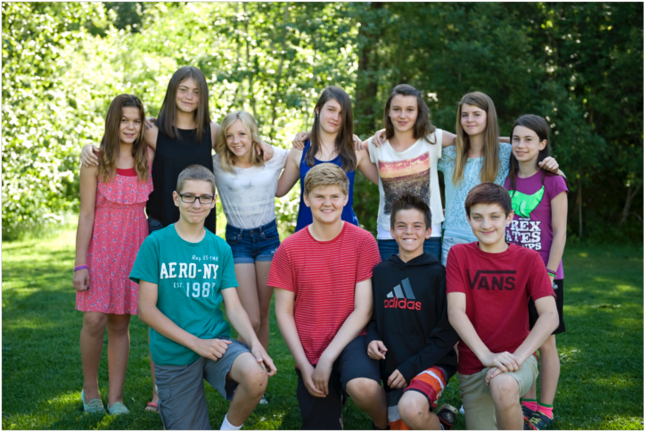 On Tuesday, June 23, 2015, the Grade 7 students at Arrow Heights graduated from elementary school.  They will be going to high school next year.  Each Grade 7 student above presented a speech about their time spent at Arrow Heights Elementary School.  Many of them have very fond memories.  We will miss them next year.  We wish them all the best at high school next year! And here are our 2015 Grade 7 grads. In the back row left to right are Krystal Kinoshita, Alexi Mostert, Alexis Larsen, Hannah Vickers, Amy Des Mazes, Journey Ray and Catherine Gingras. In the front row from left to right are Cameron McTaggart, David Kline, Grady Powell and Domenic Donato. Photo by Jessica Stewardson. Caption by Emily MacLeod and Amelie Delesalle, Student Reporter-Photographers