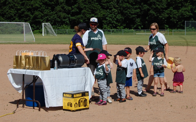 These young kids — this is the Beginner Green team with coaches Derek Yavis and Angela Kernaghan — just made you want to smile. David F. Rooney photo