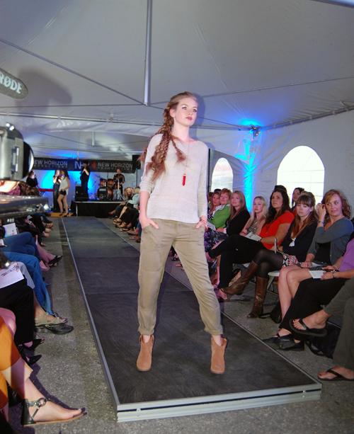 Jennifer Gullins of Déjà vu Model Management wearing Gentle Fawn and Pink Martin. David F. Rooney photo