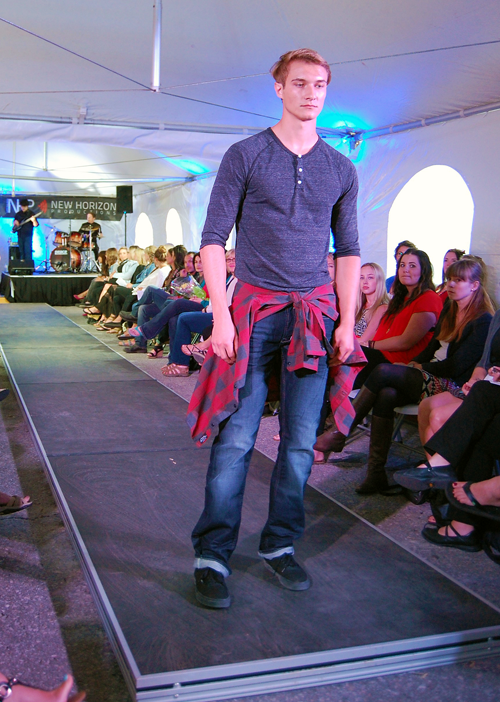 Kyle Weninger of Déjà vu Model Management wearing Guess, Alternative Apparel, and Buffalo. David F. Rooney photo