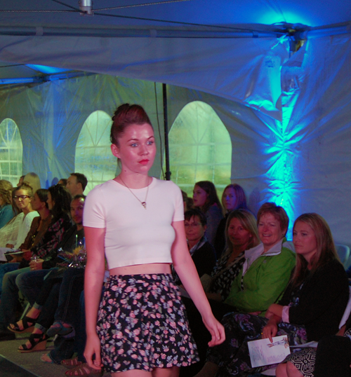 Ashleigh Cameron of Déjà vu Model Management wearing C'est Moi and Billabong. David F. Rooney photo