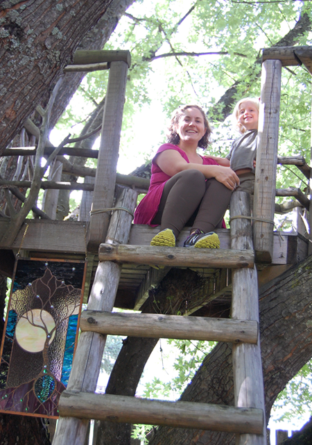 Barbara and Geordie's home was also a place for adventurous spirits like Anita Hallewas and her daughter. David F. Rooney photo