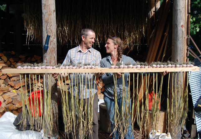 Stu and Sarah are locally well-known garlic growers and this fall will sponsor the third Revelstoke Garlic Festival. David F. Rooney photo