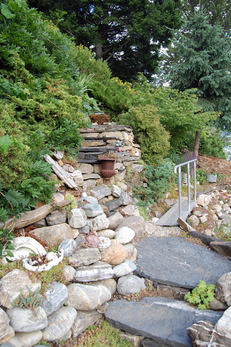 Here's another portion of the Diane's rock garden on Copeland Drive. David F. Rooney photo