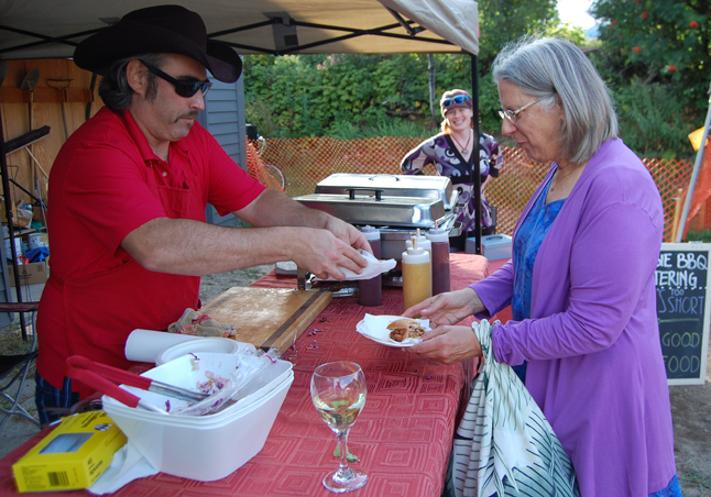 Local beer and some great wines were available and were a great accompaniment to to the pulled pork sliders barbecued by master chef Glen Cherlet of Begbie BBQ and Catering. David F. Rooney photo