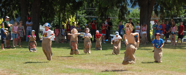 If your kids had energy to burn you could always encourage them to jump their way to the finish line in the traditional potato sack race. David F. Rooney photo
