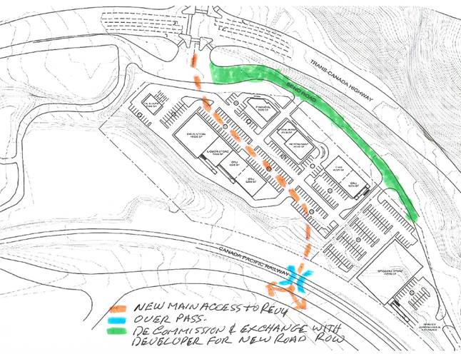 A local reader has a suggestion for developing a new access road into the city.