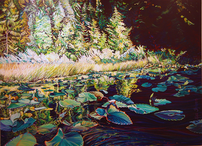 Lilies of the Upper Eagle By Lisa Figueroa Acrylic on canvas 2012