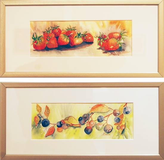 A Taste of Spring — top Nature's Garden — bottom By Sherrin Davis Watercolours