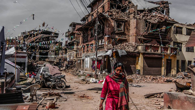 With much of Nepal's physical infrastructure in ruins disaster relief organizations are now racing to clear as much debris away as possible before winter. All Hands photo courtesy of Charise Folnovic