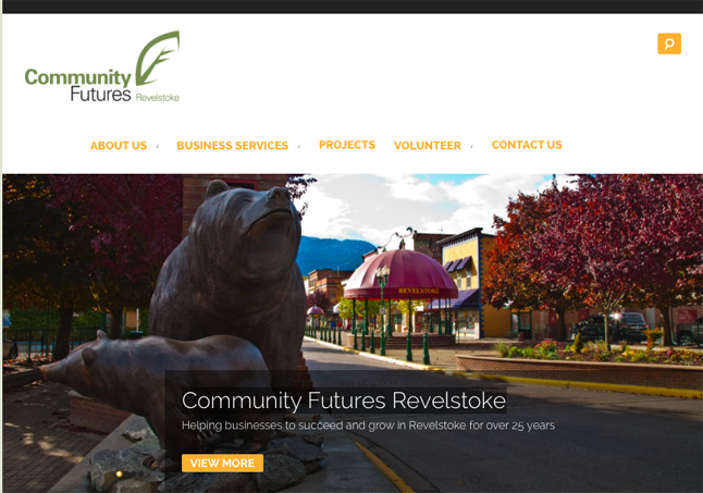 Community Futures has an attractive and newly redesigned website. The site, located at http://communityfuturesrevelstoke.com, has all the information you need about starting or enhancing a business in Revelstoke. The site was designed by Tennille Barber of Wiz Media. To learn more about Tennille and her expertise please go to http://www.computer-wiz.ca. Revelstoke Current screen shot