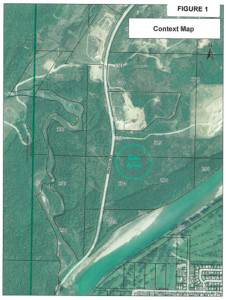 This context map developed by the City's Department of Engineering and Development Services shows the site of the proposed new Revelstoke Sand & Gravel pit in relation to the existing Interoute gravel pit, the dump and other developments along Westside Road as well as a portion of Columbia Park and the Golf Club. Please click on the image to see a larger version. Map courtesy of the City of Revelstoke