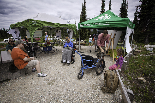 The Parks Canada tents at Heather Lake were well used and appreciated. Rob Buchanan photo courtesy of Parks Canada