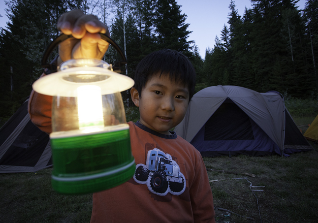 This young fellow had just what you needed after sundown — a camp light. Rob Buchanan photo courtesy of Parks Canada